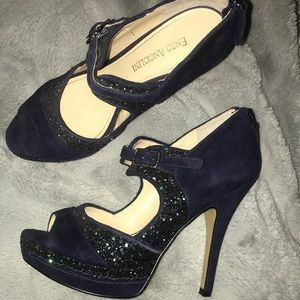 sparkly purple heels